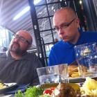 Eating in fancy restaurants